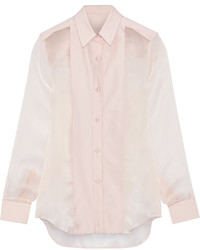 Pink Silk Dress Shirt