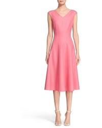 Michael Kors Michl Kors Double Faced Stretch Silk Fit Flare Dress