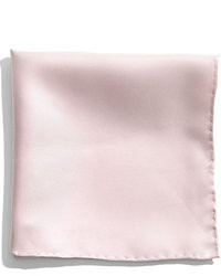 Pink Silk Pocket Square