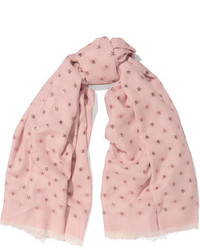 Valentino Fil Coup Voile Scarf Blush