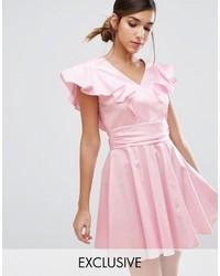 Closet london cotton mini skater dress with frill medium 3666917
