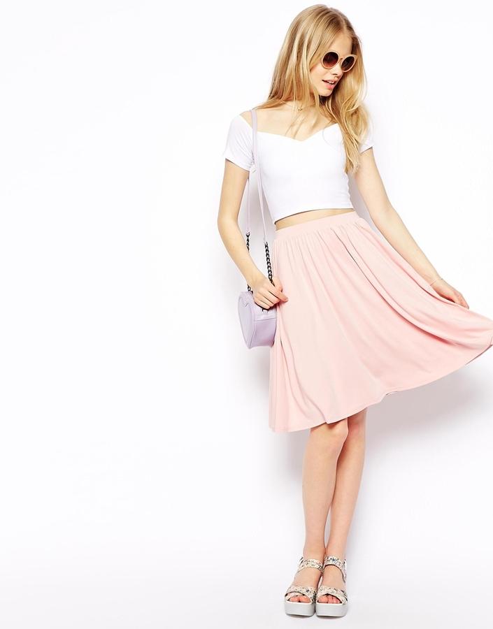 decf3b30f8 ... Skirts Asos Collection Midi Skater Skirt ...