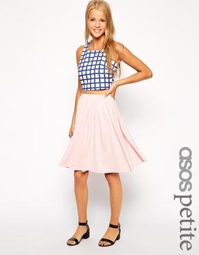 Asos Petite Midi Skater Skirt | Where to buy & how to wear
