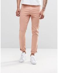 Asos Brand Skinny Jeans In Pink