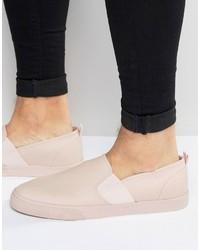 Pink Slip-on Sneakers