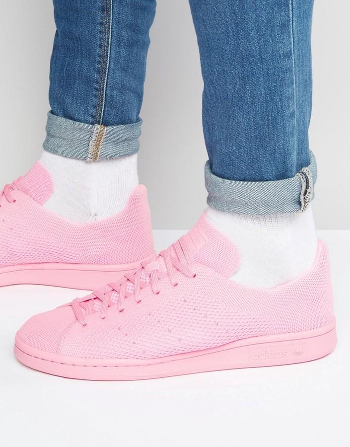 ... adidas Originals Stan Smith Primeknit Sneakers In Pink S80064 ...