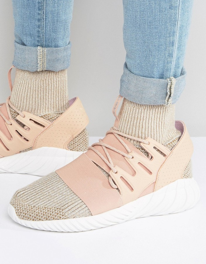 adidas originali tubulare doom pk scarpe in beige bb2390 dove