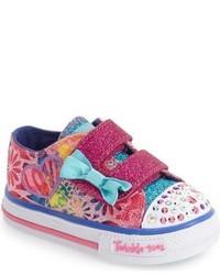 Skechers Toddler Girls Twinkle Toes Shuffles Light Up Sneaker