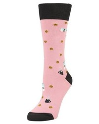 Jimmy Lion Cookies Milk Socks Pink