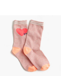 J.Crew Girls Heart You Trouser Socks