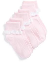 Ruby Bloom Scallop Edge Socks