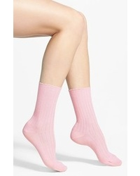 Hue Scalloped Pointelle Socks Pink Sugar 911