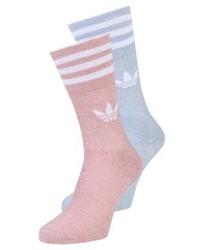 adidas Solid Crew 2 Pack Socks Rawpinoffwhitetacblu