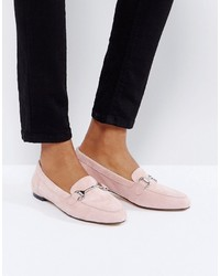 Blush suede loafers medium 6471771