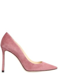 Pink Suede Pumps