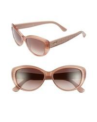 Tod's 56mm Cat Eye Sunglasses Shiny Melange Pink One Size