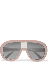 Stella McCartney D Frame Acetate Sunglasses Pink
