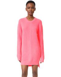 MCQ Alexander Ueen Chevron Crew Neck Sweater Dress