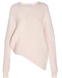 Stella McCartney Asymmetric Long Sleeved Ribbed Sweater