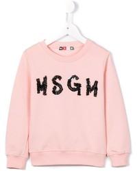 MSGM Kids Embellished Logo Sweatshirt