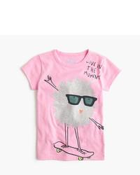 J.Crew Girls Max The Monster Skateboarding T Shirt