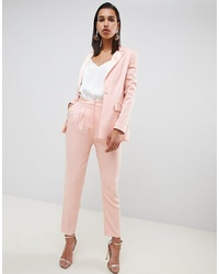 ASOS DESIGN Tailored Contrast Satin Tapered Trouser Co Ord