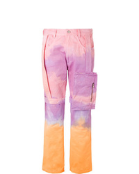 EV BRAVADO Strap Detailed Tie Dyed Denim Cargo Jeans