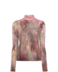 Ambush Tie Dye Roll Neck Top