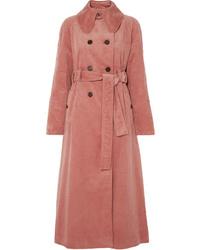 ALEXACHUNG Cotton Blend Corduroy Trench Coat