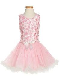 Girls Popatu Sleeveless Tulle Dress