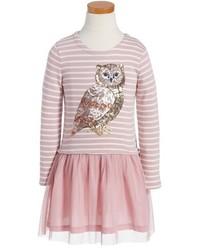 Mini Boden Stripe Sequin Tulle Dress