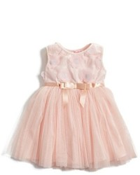 Popatu Floral Applique Tulle Dress
