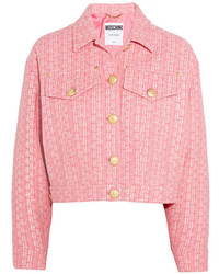 Moschino Raffia And Boucl Tweed Jacket