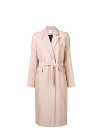 Pink Vertical Striped Coat