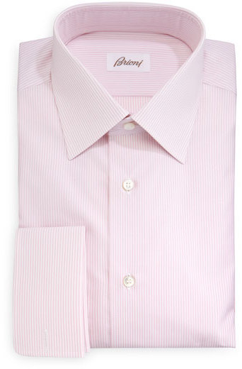 Brioni Rope Stripe French Cuff Dress Shirt Pink | Where to buy ...