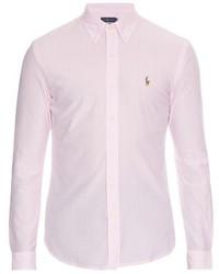 Polo Ralph Lauren Striped Button Cuff Cotton Piqu Shirt
