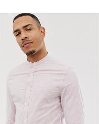 ASOS DESIGN Tall Skinny Smart Stripe Shirt In Pink