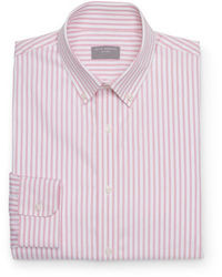 Pink Vertical Striped Long Sleeve Shirt