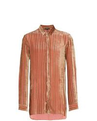 Ann Demeulemeester Velvet Stripe Blend Shirt