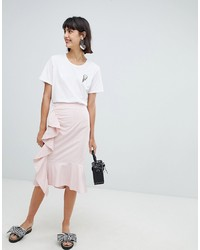 In Wear Rachelle Ruffle Front Skirt Stripe