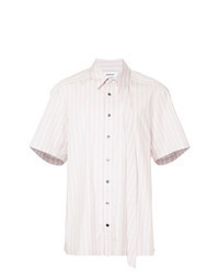 Pink Vertical Striped Short Sleeve Shirt