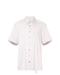 Pink Vertical Striped Short Sleeve Shirt