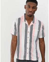 Soul Star Short Sleeve Bowler Stripe Revere Shirt