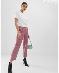 Pieces Flare Pinstripe Trousers