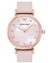 Emporio Armani Leather Strap Watch 32mm