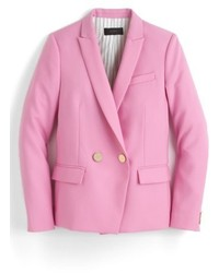 Pink Wool Double Breasted Blazer