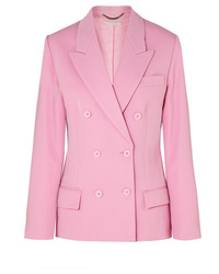 Stella McCartney Double Breasted Wool Twill Blazer
