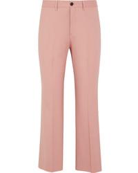 Pink Wool Flare Pants