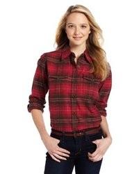 Plaid button down blouse original 4300538