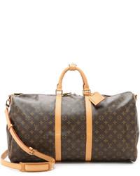 Print Leather Duffle Bag